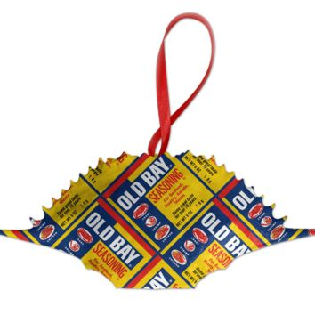 *PRE-ORDER* Full Old Bay Can Pattern /  Crab Shell Ornament (Estimated Arrival Date: 12/1)