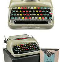 RARE 1936 Remington Rand 5 Typewriter with Colored Keys / Professionally Serviced / Working Typewriter / Remington Typewriter / Writer Gift