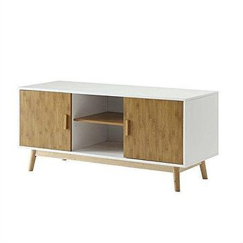 Modern 47-inch Solid Wood TV Stand