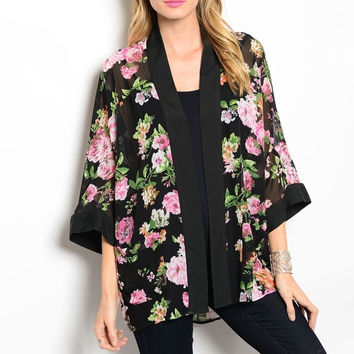 Best Pink Floral Kimono Products on Wanelo