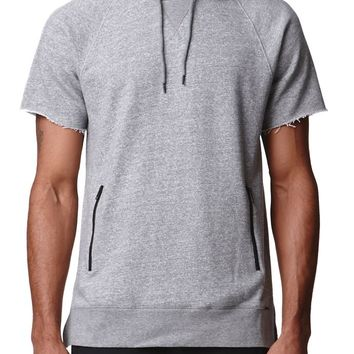 On The Byas Short Sleeve Hoodie - Mens Hoodies - Gray
