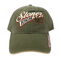 Class of 420 Stoner High Marijuana Leaf Baseball Cap Hat (One Size, Green)