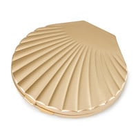 Gold Clam Shell Double Sided Mirror Compact