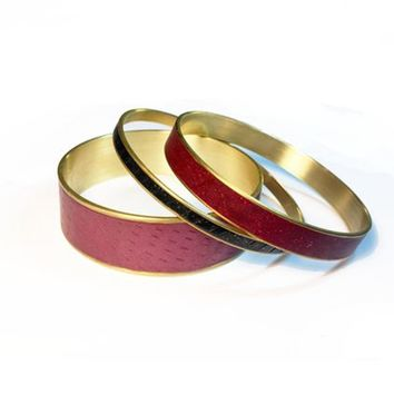 Bordeaux Polymer Clay Bangles