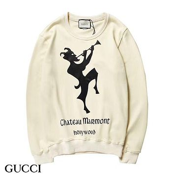 GUCCI HOT SALE Round neck letters printed long sleeve sweater