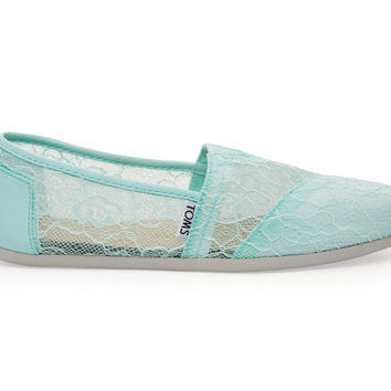 TOMS Mint Lace Women's Classics Green