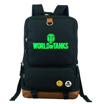 World of Tanks Military Online Games Backpack School Bag Large Size Laptop Bag Xmas Gift Mochila Boys Girls