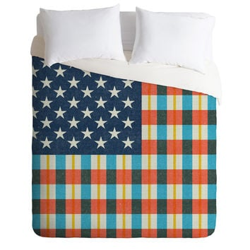 Nick Nelson Plaid Flag Duvet Cover