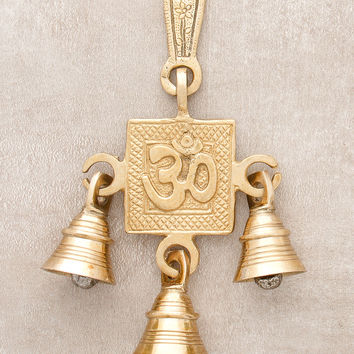 Om Blessing Solid Brass Bells
