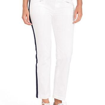 Lauren Ralph Lauren Plus Side-Striped Ankle Pants