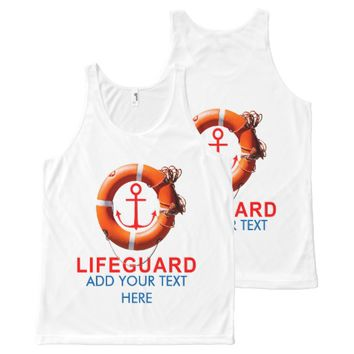 Lifeguard All-Over Print Tank Top