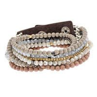 Nakamol Neutral Beaded and Crystal Wrap
