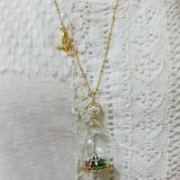 Eiffel Tower Glass Globe Necklace Magical by TheWabbitHole on Etsy