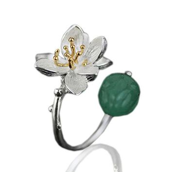 Jardin Asian Lotus Aventurine Ring