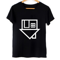 House party EDM upside down Fashion trendy ladies top tumblr reddit tee t-shirt  shirt 001 tqi