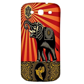 Shepard Fairey OBEY Elephant Art Samsung Galaxy S3 III Classic Back Case Cover