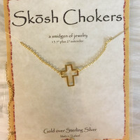 Skosh Gold Cross Choker