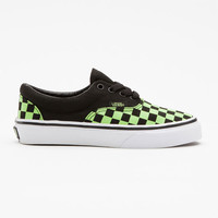 Vans Glow Checks Era Boys Shoes Black  In Sizes