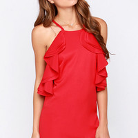 On Fuego Red Backless Dress
