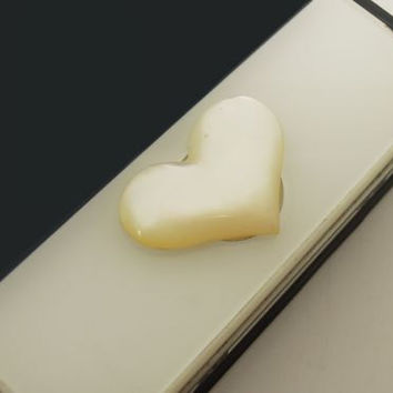 Teacher Gift Special Sale -1PC 100% Natural White Shell Heart Apple iPhone Home Button Sticker for iPhone 4,4s,4g, 5, iPad, iPhone Charm