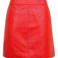 PETITE Short Pencil PU Skirt