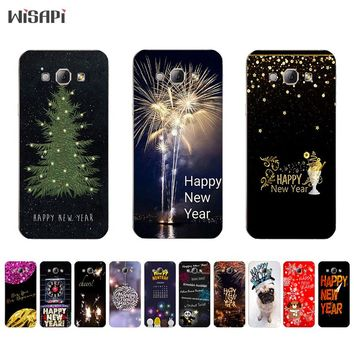 for Samsung Galaxy A7 2015 TPU Phone Case for A3 A5 A8 2015 Shell Transparent for A300 A500 A700 A800 Cover Happy New Year