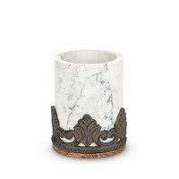 GG Collection Antiquity Marble Wood Utensil Holder