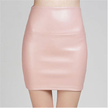 Professional PU Leather Fashion Women Skirt