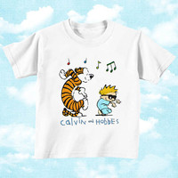 Calvin and Hobbes for Youth T Shirt boys and T shirt Girls, children