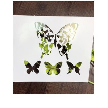 Leaves Butterfly Scrapbooking tool DIY album masking spray painted template drawing stencil laser cut template AP7050302