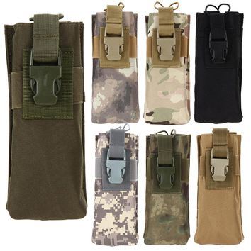 Outdoor Tactical Military Molle System Sports Water Bottle Bag Combined Open Water Bottle Pouch Bags For Hiking Climbing Running