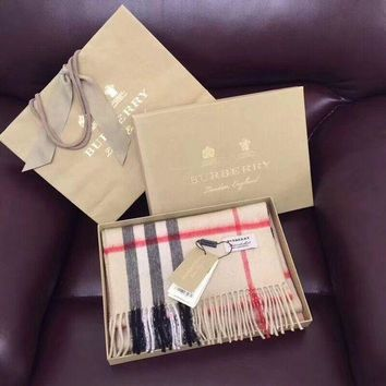 BURBERRY Winter Warm Fashion Woman Men Scarf Scarves Accessories Apricot I