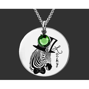 Zebra Necklace | St. Patrick's Day Necklace