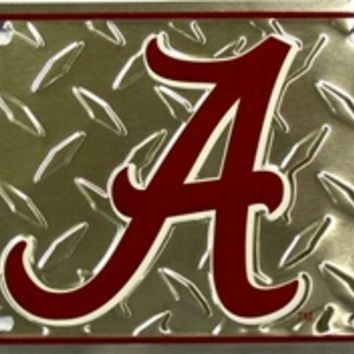 Alabama Crimson Tide Metal Diamond License Plate | BAMA Roll Tide License Plate | Alabama Crimson Tide License Plates