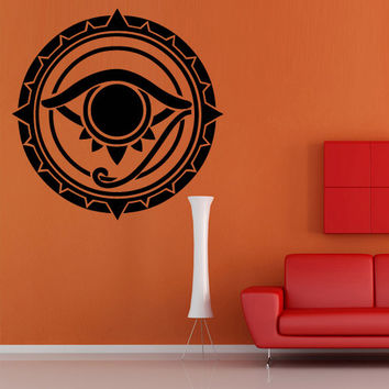 Wall decal decor decals art sticker all seeing eye annuit coeptis illuminati god circle mason undertakings favorably (m763)