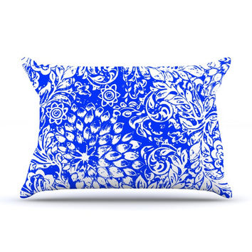 "Vikki Salmela ""Bloom Blue for You"" Pillow Case"