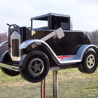 Metal Antique Car Mailbox