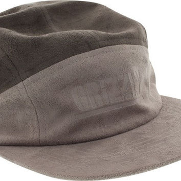 Grizzly Suede 7-Panel Camp Hat Adjustable Grey/Charcoal