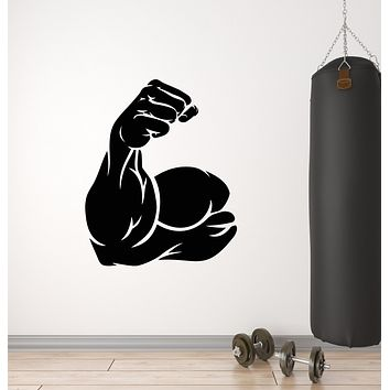 Vinyl Wall Decal Bodybuilding Muscle Sports Gym Fitness Stickers Mural (g3063)