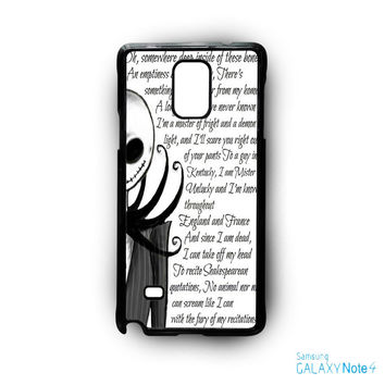 Jack And Sally Nightmare Before Christmas Couple B for Samsung Galaxy Note 2/Note 3/Note 4/Note 5/Note Edge phone case