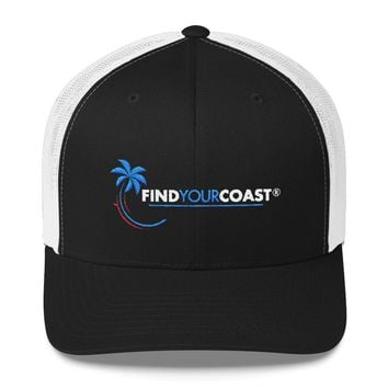 8889216c Find Your Coast Trademark Palm Mesh Back Adjustable Trucker Hats
