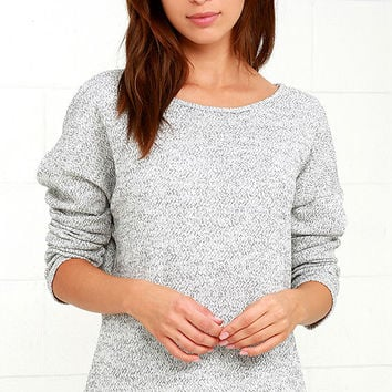 Keep Me Company Grey Sweater Top