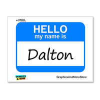 Dalton Hello My Name Is Sticker