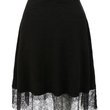 LE3NO Womens Stretchy Flared Midi Skater Skirt (CLEARANCE)