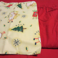 Unisex Adult Christmas Flannel Pajama / Lounge Wear Cozy Winter Set Size XL/Petite