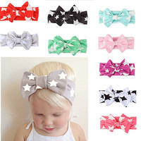 9PC Kid Girl Baby Toddler Infant Star Headband Hair Bow Band Hair Accessories