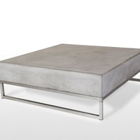 Modrest Drake Modern Square Concrete Coffee Table