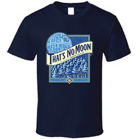 Men's Blue moon parody shirt.