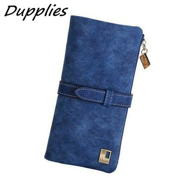 Dupplie Women Wallet Ladies Long Wallets PU Women Leather Purses For Credit Card Hasp Femal Clutch Card Holder