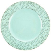Light Blue Textured Plastic Plate Charger | Hobby Lobby | 1156892